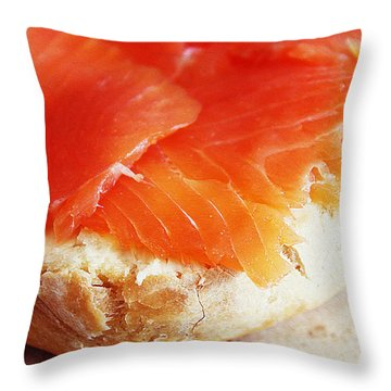 Salmon In Bread Throw Pillow