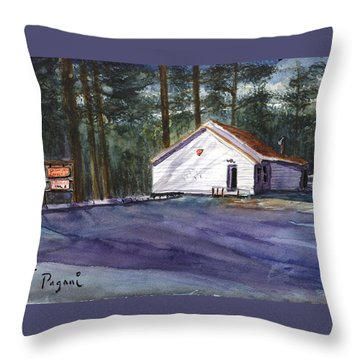 Throw Pillow featuring the painting Salmon River Grange by Chriss Pagani