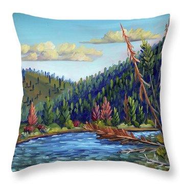 Salmon River - Stanley Throw Pillow