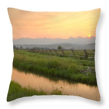 Salmon Sunrise Throw Pillow