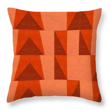 Salmon With Red And Brown Throw Pillow by Michelle Calkins