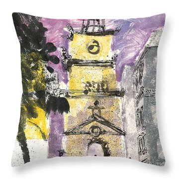 Throw Pillow featuring the painting Salon De Provence by Martin Stankewitz