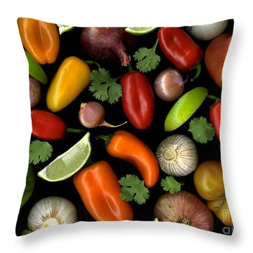 Salsa Throw Pillow by Christian Slanec
