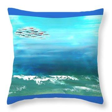 Salt Air Throw Pillow
