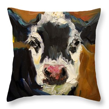 Salt And Pepper Cow Throw Pillow