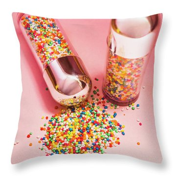 Salt And Pepper Shakers With Confetti Throw Pillow