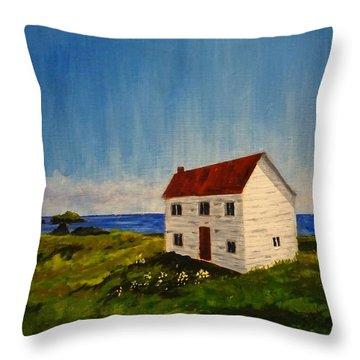 Saltbox House Throw Pillow