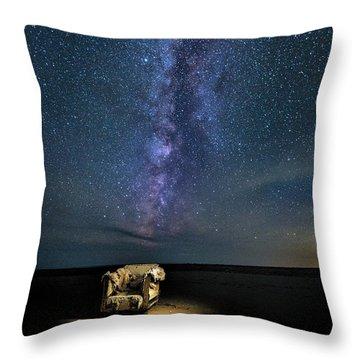 Salt Flats Milky Way Chair Throw Pillow
