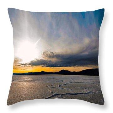 Salt Flats Sunset Throw Pillow