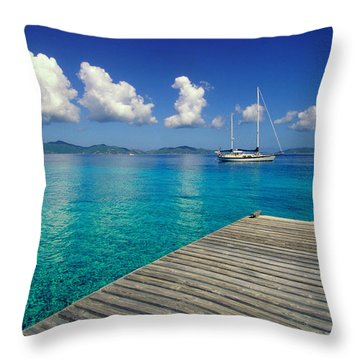Salt Island Ancorage Throw Pillow