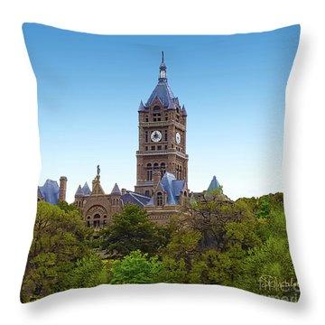 Salt Lake City Hall Throw Pillow