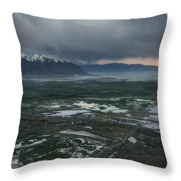 Throw Pillow featuring the photograph Salt Lake Drama by Ryan Manuel