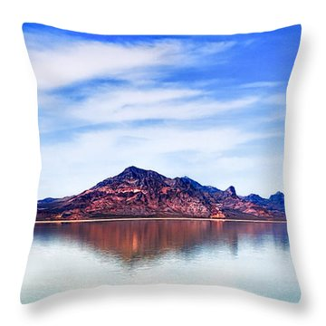 Salt Lake Mountain Throw Pillow