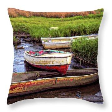 Throw Pillow featuring the photograph Salt Marsh by Richard Goldman