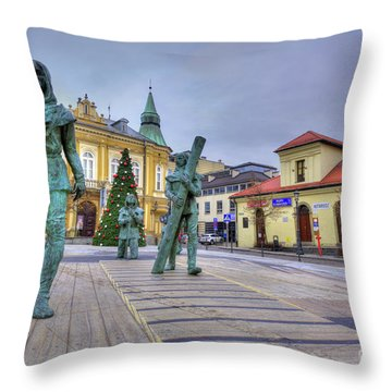Throw Pillow featuring the photograph Salt Miners Of Wieliczka, Poland by Juli Scalzi