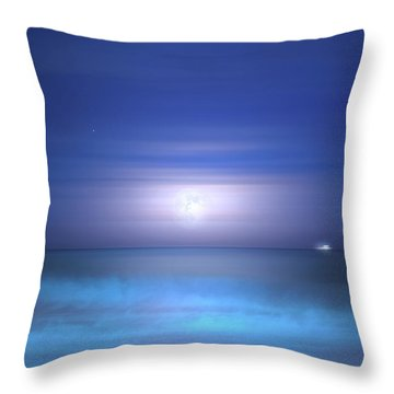 Throw Pillow featuring the photograph Salt Moon by Mark Andrew Thomas