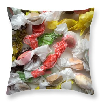 Salt Water Taffy No. 2 Throw Pillow by Patricia E Sundik