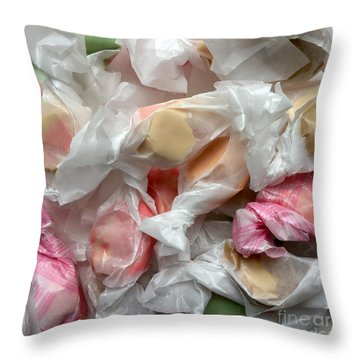Salt Water Taffy Pastel Lusciousness No. 1 Throw Pillow by Patricia E Sundik