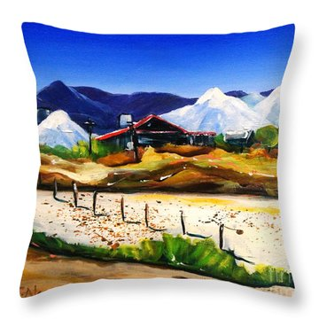 Salt Works - Port Alma Throw Pillow