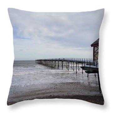 Saltburn On Sea Throw Pillow