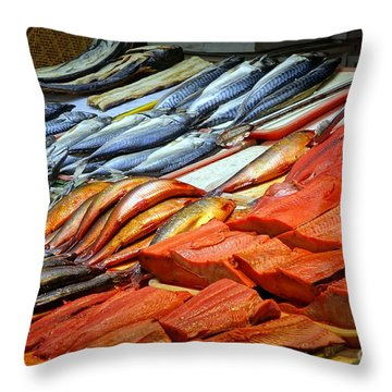 Throw Pillow featuring the photograph Salted And Preserved Fish by Yali Shi