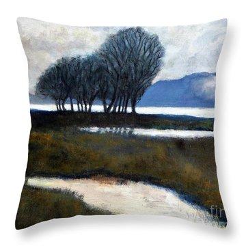 Salton Sea Trees Throw Pillow