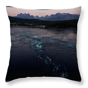 Saltstraumen, Magic Power Stream Throw Pillow