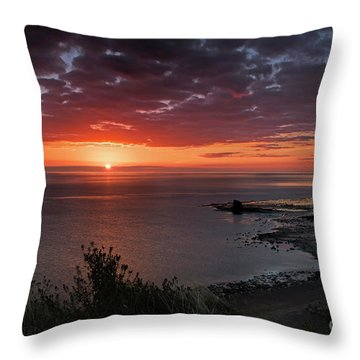 Saltwick Bay Sunrise  Throw Pillow