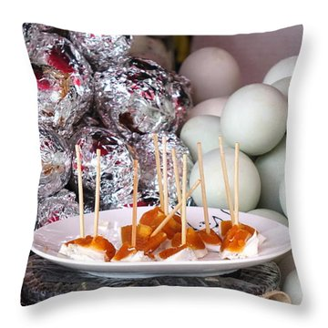 Throw Pillow featuring the photograph Salty Duck Eggs by Yali Shi