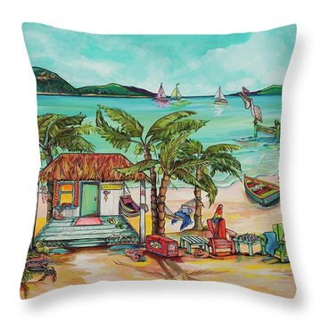 Salty Kisses And Star Fish Wishes Throw Pillow