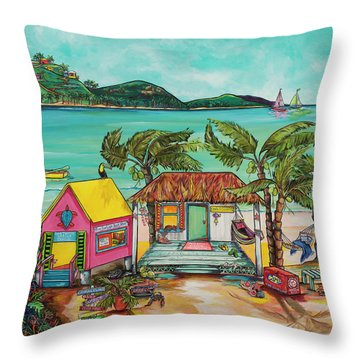 Salty Kisses Smaller Version Throw Pillow