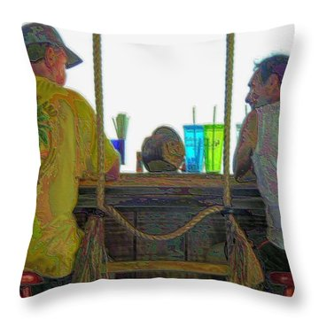 Throw Pillow featuring the photograph Living Salty by Laura Ragland