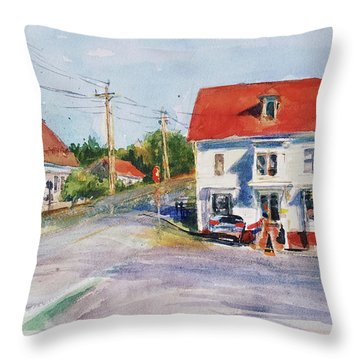 Salty Market, North Truro Throw Pillow by Peter Salwen