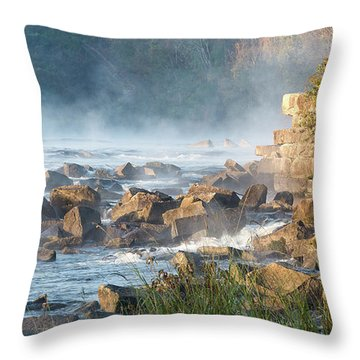 Saluda River At Daybreak Throw Pillow
