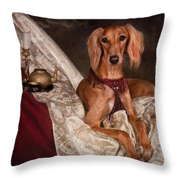 Saluki Dog Throw Pillow