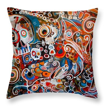 Salvador And The Giant Koi Throw Pillow