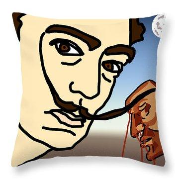 Salvador Dali Throw Pillow by Jera Sky