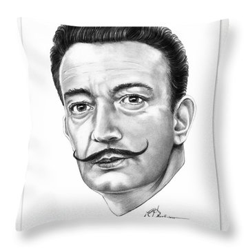 Salvador Dali Throw Pillow by Murphy Elliott