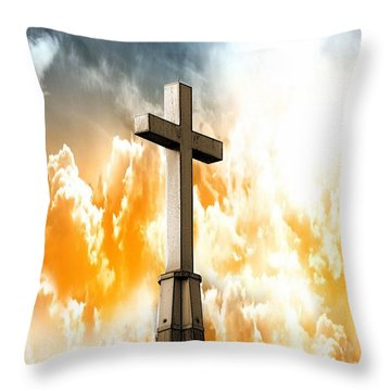 Throw Pillow featuring the photograph Salvation  by Aaron Berg
