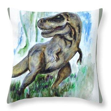 Salvatori Dinosaur Throw Pillow