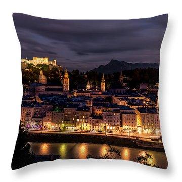 Throw Pillow featuring the photograph Salzburg Austria by David Morefield