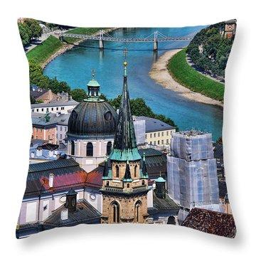 Salzburg Austria Europe Throw Pillow by Sabine Jacobs