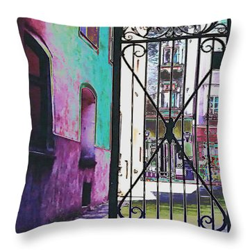 Throw Pillow featuring the photograph Salzburg Gate by Kate Word