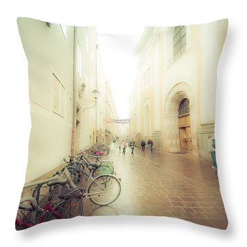 Salzburg Rain Throw Pillow