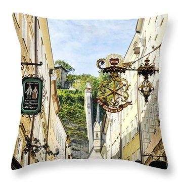 Salzburg Shopping Throw Pillow