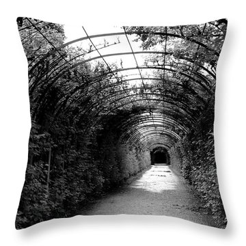 Salzburg Vine Tunnel - By Linda Woods Throw Pillow