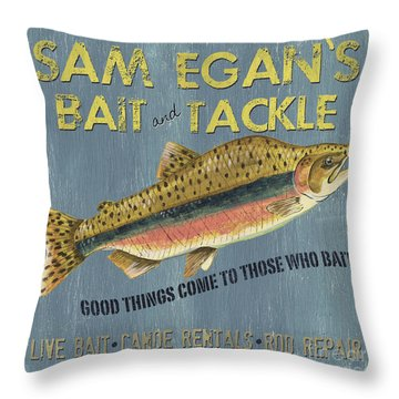 Fishing Tackle Throw Pillows