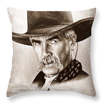 Sam Elliot The Lone Rider Throw Pillow