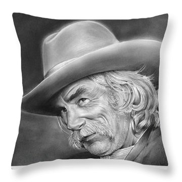Sam Elliott Throw Pillow