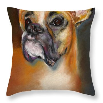 Sam Throw Pillow by Frances Marino